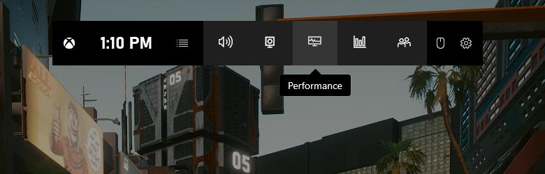 Включите вкладку Performance, в которой отображается FPS игр