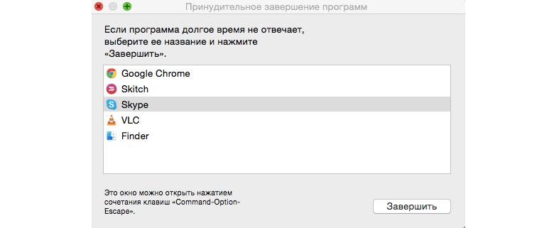 Диспетчер задач Mac OS