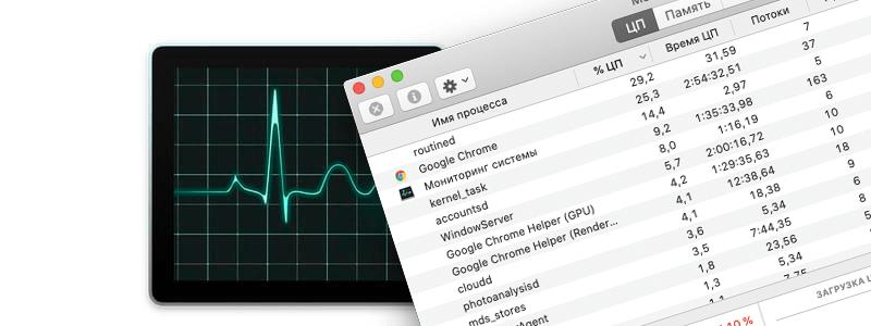 Как открыть диспетчер задач на Mac OS